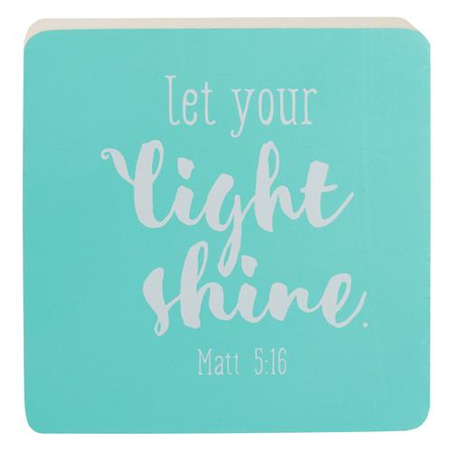 Décor Block Sm Let Your Light Shine