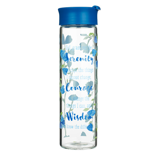 Serenity Prayer Glass Water Bottle