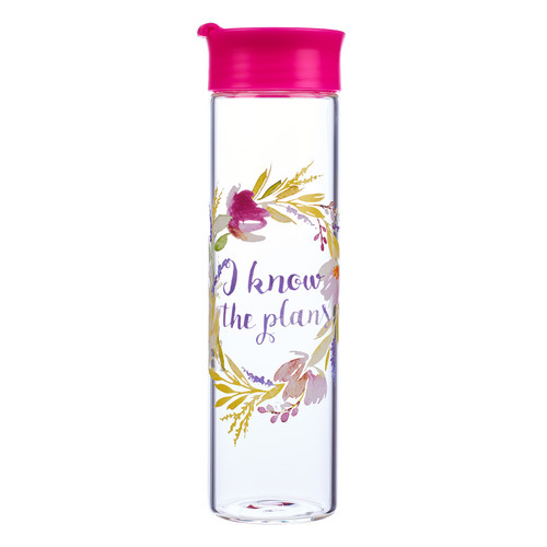 I Know The Plans - Jeremiah 29:11 Glass Water Bottle