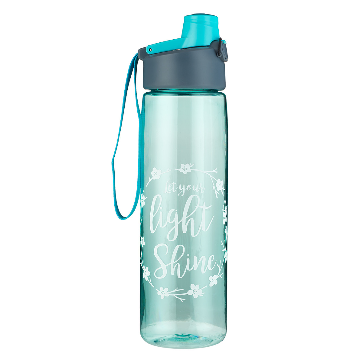 Water Bottle In Spanish: Plastic Water Bottle: Let Your Light Shine In Teal