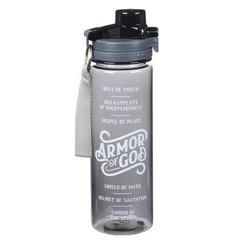 Armor of God Plastic Water Bottle in Black - Ephesians 6:10 - 18