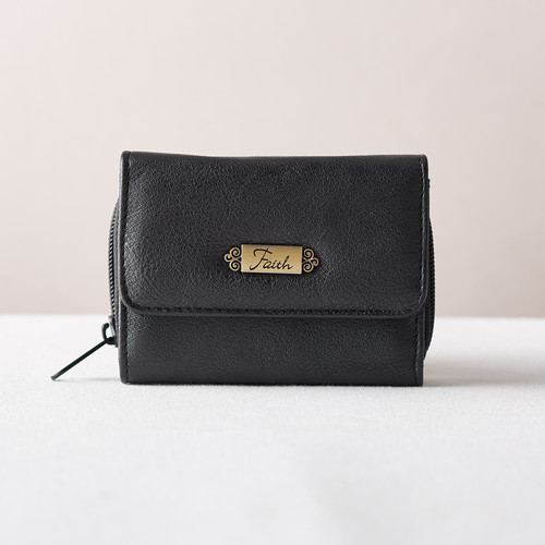 Wallet w/Faith Badge (Black)
