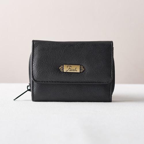 Wallet w/Faith Badge (Black)