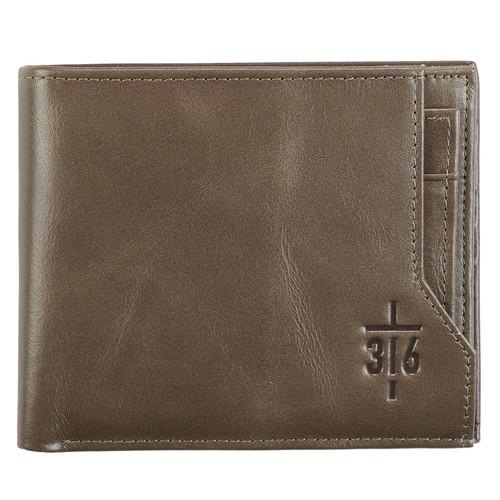 John 316 Cross Leather Wallet