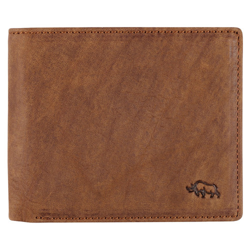 Mens Timber Spice Brown Full Grain Cowhide Leather Bifold Rhino Armor™ Wallet