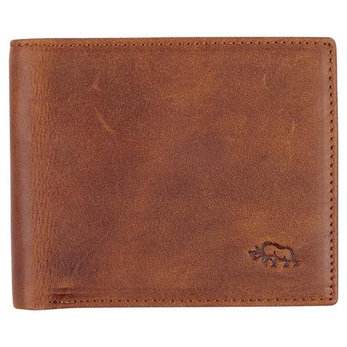 Mens Diesel Brown Full Grain Cowhide Leather Bifold Rhino Armor™ Wallet