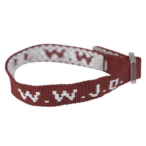 Wristbands - Maroon, W.W.J.D.
